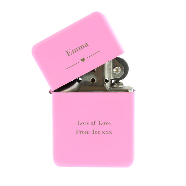 personalised-decorative-heart-pink-lighter