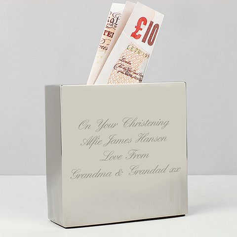 Personalised Square Money Box