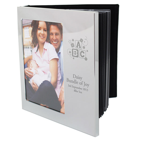 Buy Personalised ABC Photo Frame Album 4x6 With Silver Finish