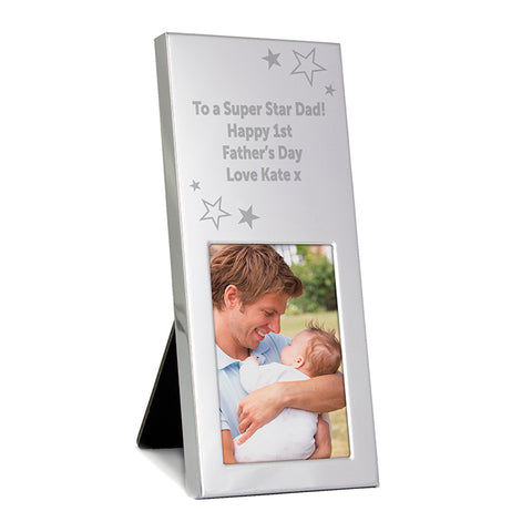 Buy Personalised Stars Small Silver 2x3 Photo Frame