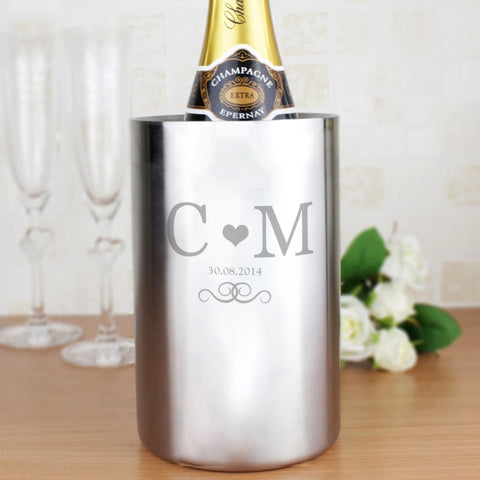 Buy Personalised Monogram Stainless Steel Wine Cooler