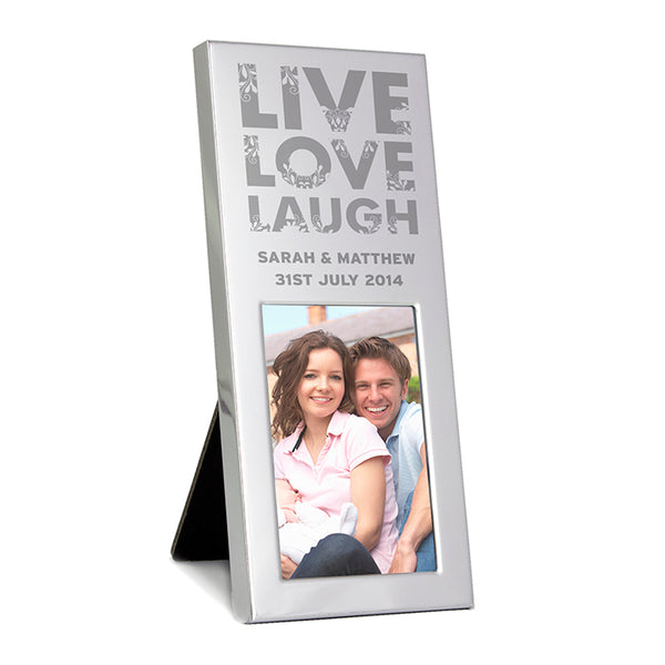 personalised-small-silver-live-love-laugh-2x3-photo-frame