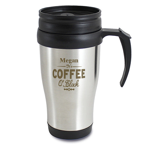 Buy Personalised Coffee O'Clock Travel Mug