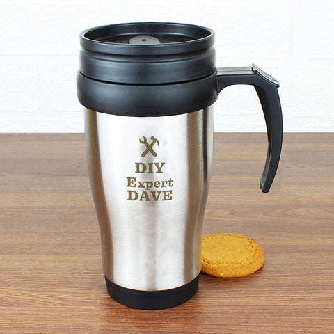 Buy Personalised Man At Work Travel Mug