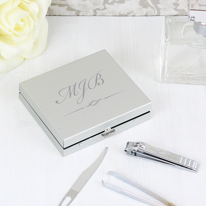 Personalised Initials Manicure Set, Cosmetic Tools by Low Cost Gifts