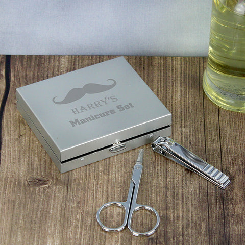Buy Moustache Manicure Set