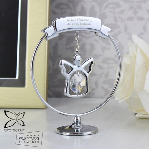 BPersonalised Crystocraft Angel Ornament