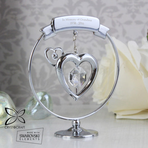 Buy Personalised Crystocraft Heart Ornament