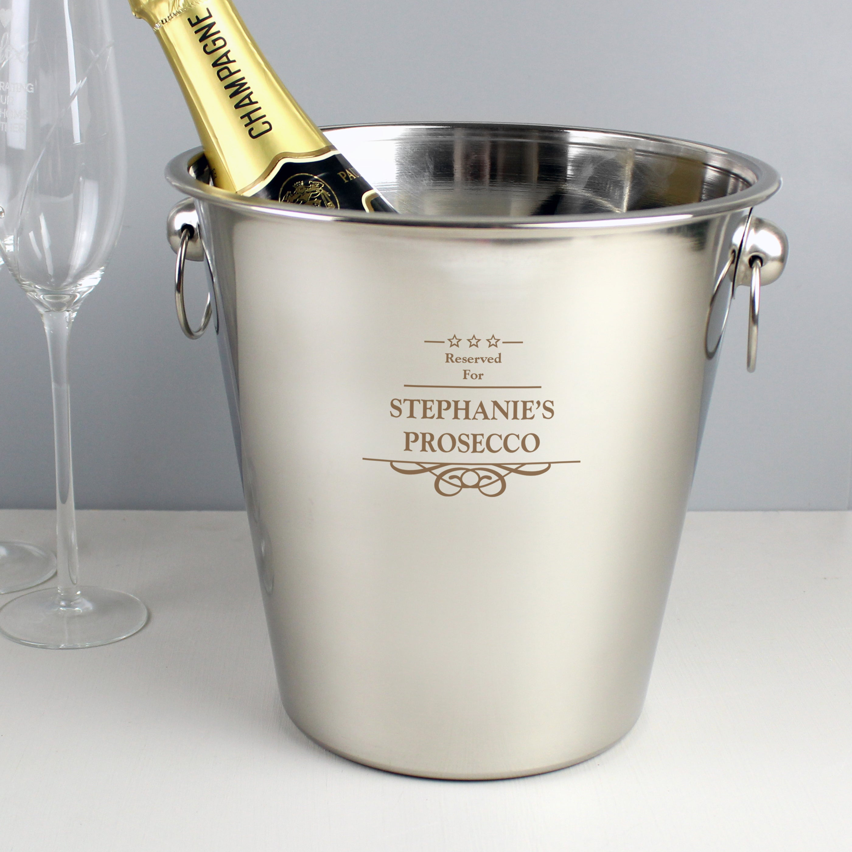 Personalised Decorative Stainless Steel Ice Bucket, Business & Industrial by Gifts24-7