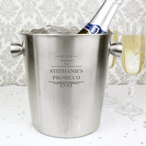 Personalised Decorative Stainless Steel Ice Bucket | ShaneToddGifts.co.uk