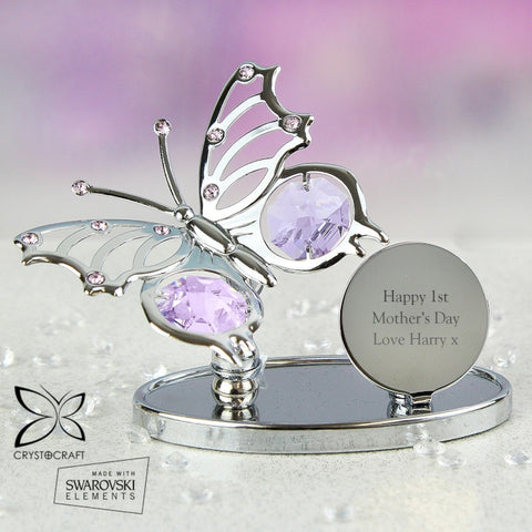 Buy Personalised Crystocraft Butterfly Ornament