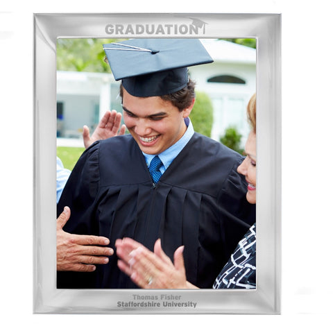 Personalised Silver 10x8 Graduation Photo Frame - Shane Todd Gifts UK