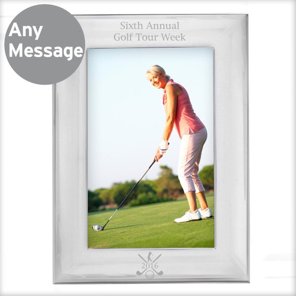 personalised-silver-golf-6x4-photo-frame