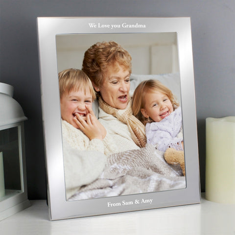 Personalised Any Message Silver 10x8 Photo Frame - Shane Todd Gifts UK