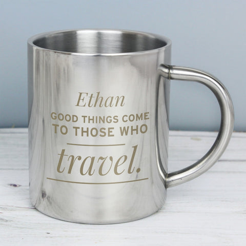 Buy Personalised 'Any Message' Metal Mug