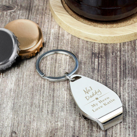 Personalised No.1 Bottle Opener Keyring | ShaneToddGifts.co.uk