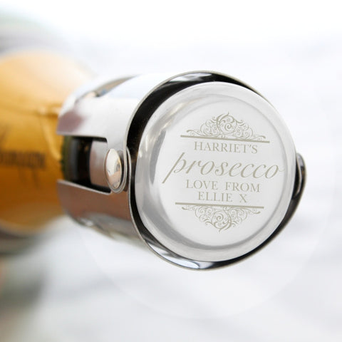 Buy Personalised Prosecco Bottle Stopper