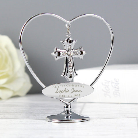 Buy Personalised Crystocraft Cross Ornament