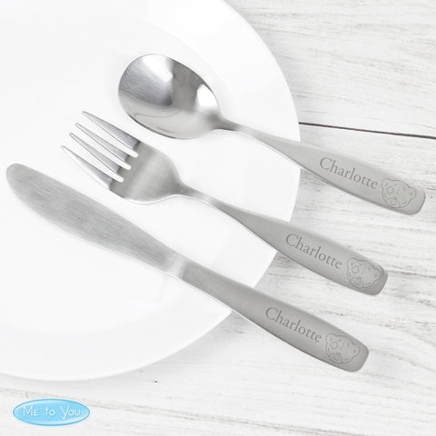 Personalised Tiny Tatty Teddy 3 Piece Cutlery Set