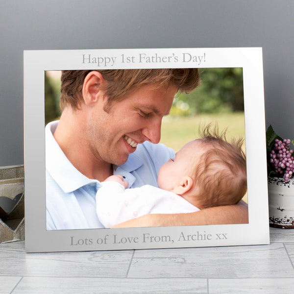 personalised-10x8-silver-photo-frame