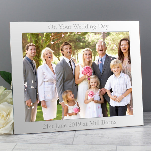 Buy Personalised 10x8 Silver Photo Frame