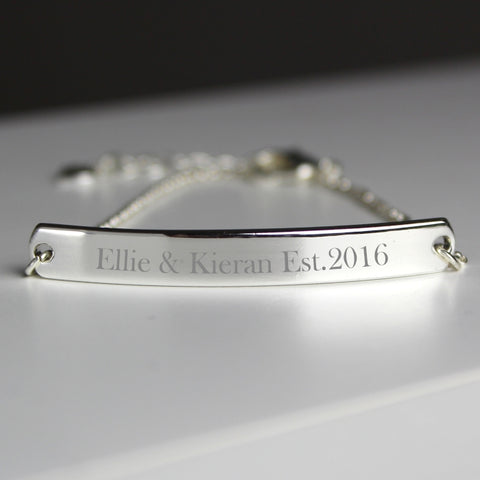 Buy Personalised Silver Tone ID Bracelet