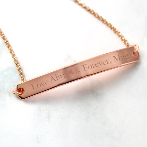 Buy Personalised Rose Gold Tone ID Bracelet