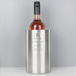 Personalised Anniversary Wine Cooler