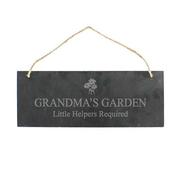 personalised-flower-motif-hanging-slate-plaque