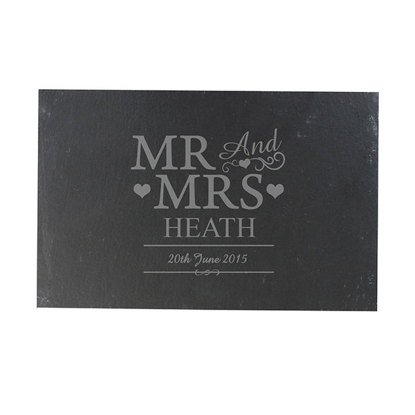 personalised-mr-mrs-slate-board
