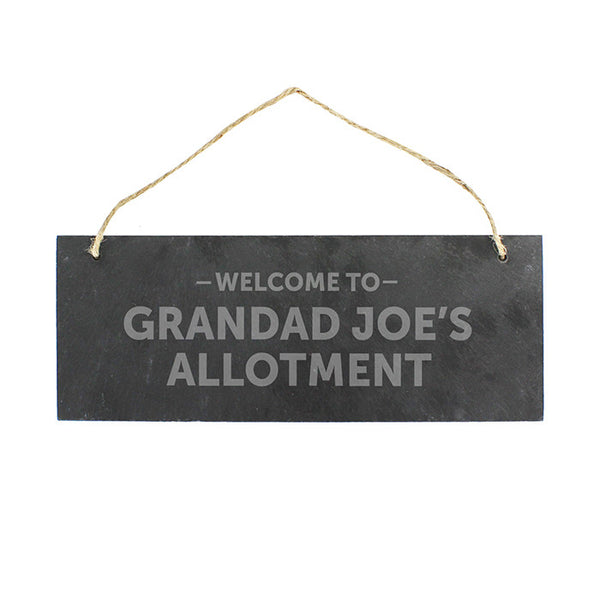 Buy Personalised Welcome To... Hanging Slate Plaque