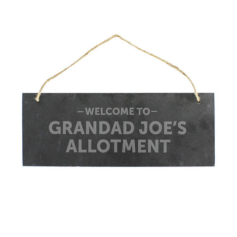 Personalised Welcome To... Hanging Slate Plaque - Shane Todd Gifts UK