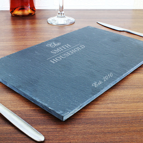 Buy Personalised Family Slate Placemat