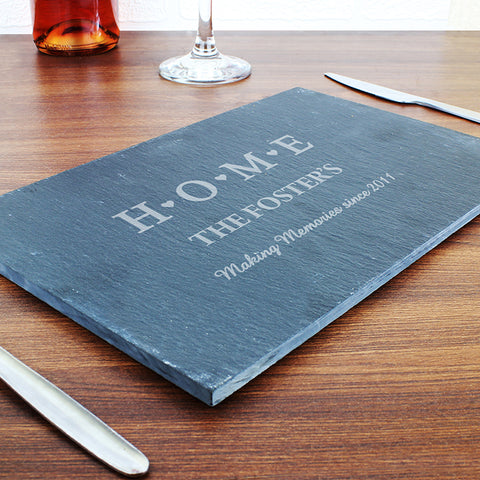Buy Personalised HOME Slate Rectangle Placemat