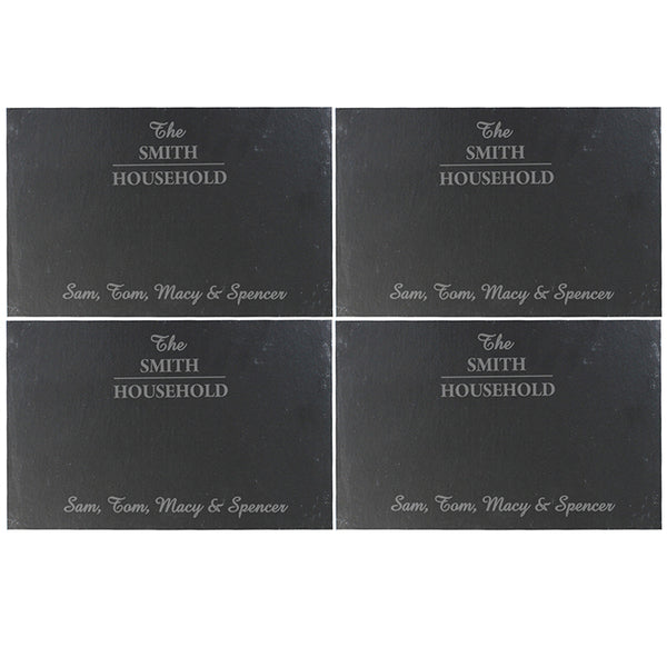 personalised-family-slate-rectangle-placemat-4-pack