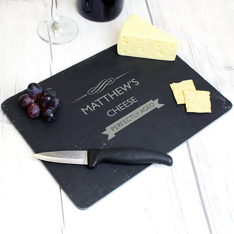 Buy Personalised Perfectly Aged Slate Cheeseboard
