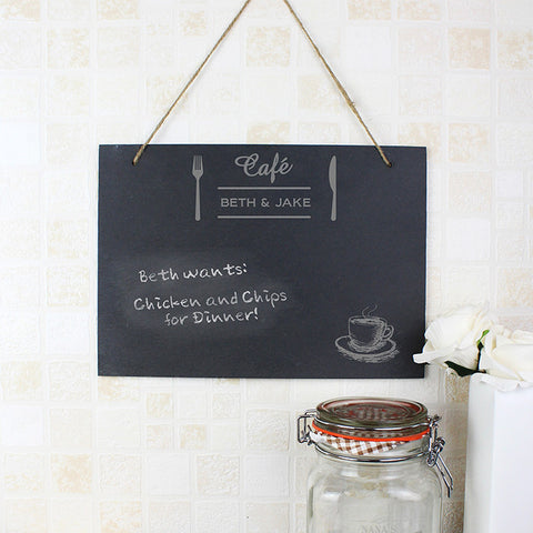 Personalised Bistro Hanging Slate Sign - Shane Todd Gifts UK
