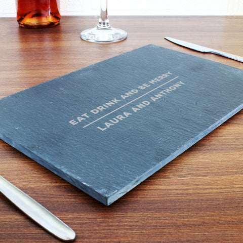 Personalised Classic Slate Rectangle Placemat - Shane Todd Gifts UK