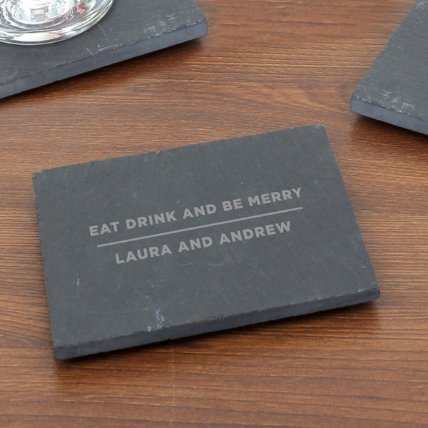 Personalised Classic Single Slate Coaster