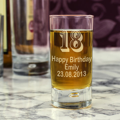 Personalised Age Bubble Shot Glass - Shane Todd Gifts UK