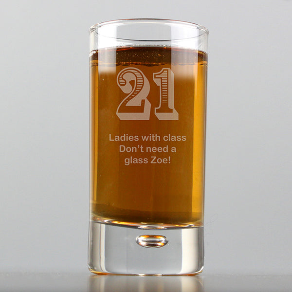Personalised Age Bubble Shot Glass