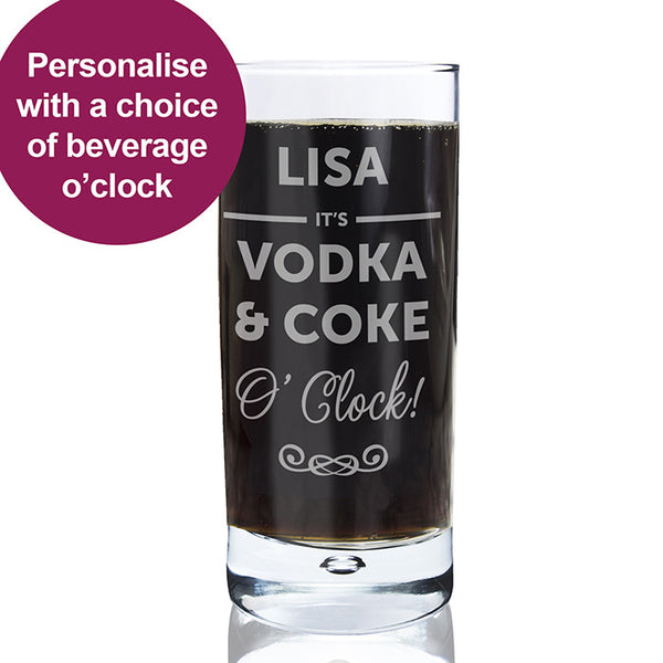 personalised-its-oclock-hi-ball-bubble-glass