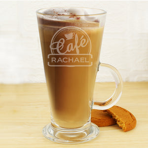 Personalised Bistro Latte Glass