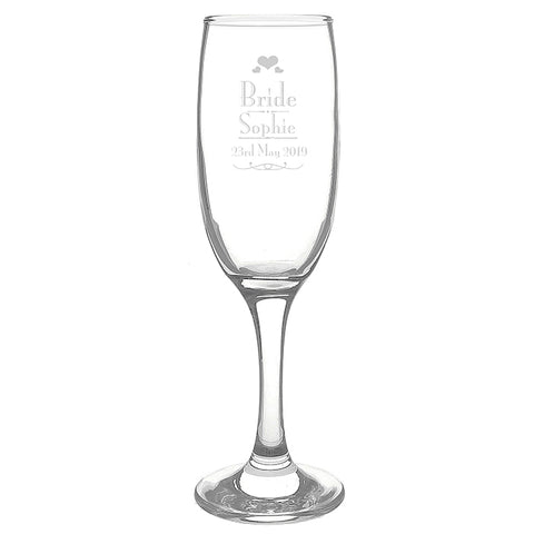 Buy Personalised Decorative Wedding Bride Glass Flute