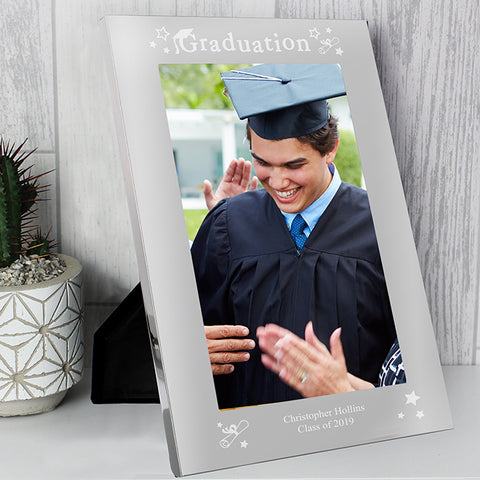 Buy Personalised Graduation Silver 5x7 Photo Frame