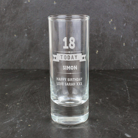 Buy Personalised Birthday Star Shot Glass