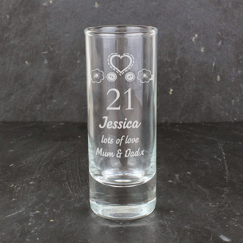 Buy Personalised Birthday Craft Shot Glass Engraved