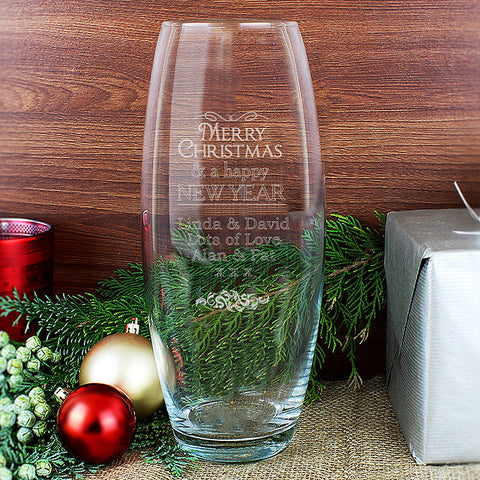 Personalised Christmas Bullet Vase - Shane Todd Gifts UK
