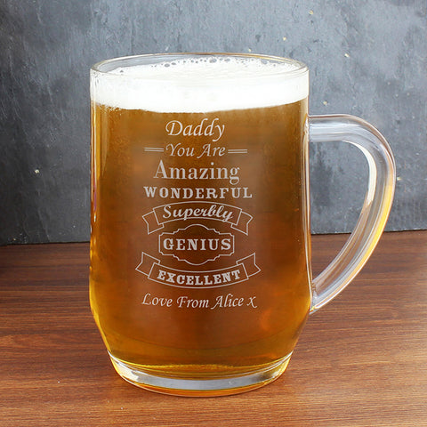 Personalised Vintage Typography Tankard | ShaneToddGifts.co.uk