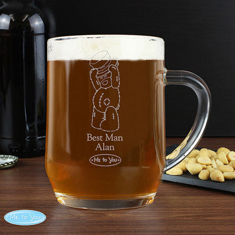 Personalised Me To You Engraved Male Wedding Tankard